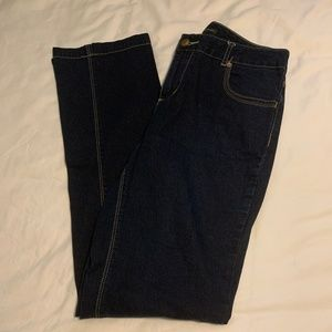 Mossimo Dark Navy Bootcut Jeans, Size 10